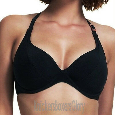 Fantasie Swimwear Seattle Halter/Cross Back Bikini Top Black 5014 Select Size