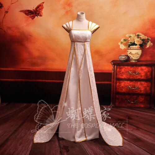Fate Zero stay night Irisviel von Einzbern Cosplay Kostüm Abend-kleid lang weiss