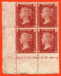 SG-43-44-034-SA-SB-TA-TB-034-1d-red-Plate-145-A-very-fine-lightly-mounted-mint