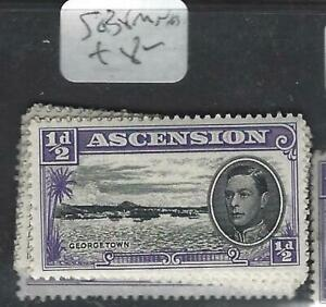 pp3103b Ascension Kgvi 1/2 D Sg 38 Mnh A Plastic Case Is Compartmentalized For Safe Storage