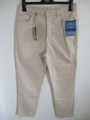 Trendmarkierung Marks & Spencer Ladies Stone Stretch Fit Straight Leg Jeans Uk 16/44 Long 33""