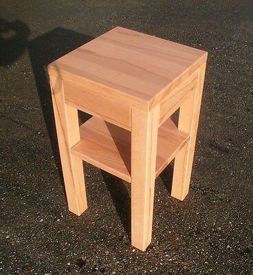 Beistelltisch Holztisch Kernbuche massiv.Maße 45x45x60cm hoch.Maßanfertigung !