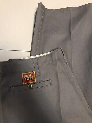 Condado De Coleccion Fb El Verdadero Og Gris Heavy Duty Workwear Mecanico Pantalones De 34 X 30 Cholo Ebay