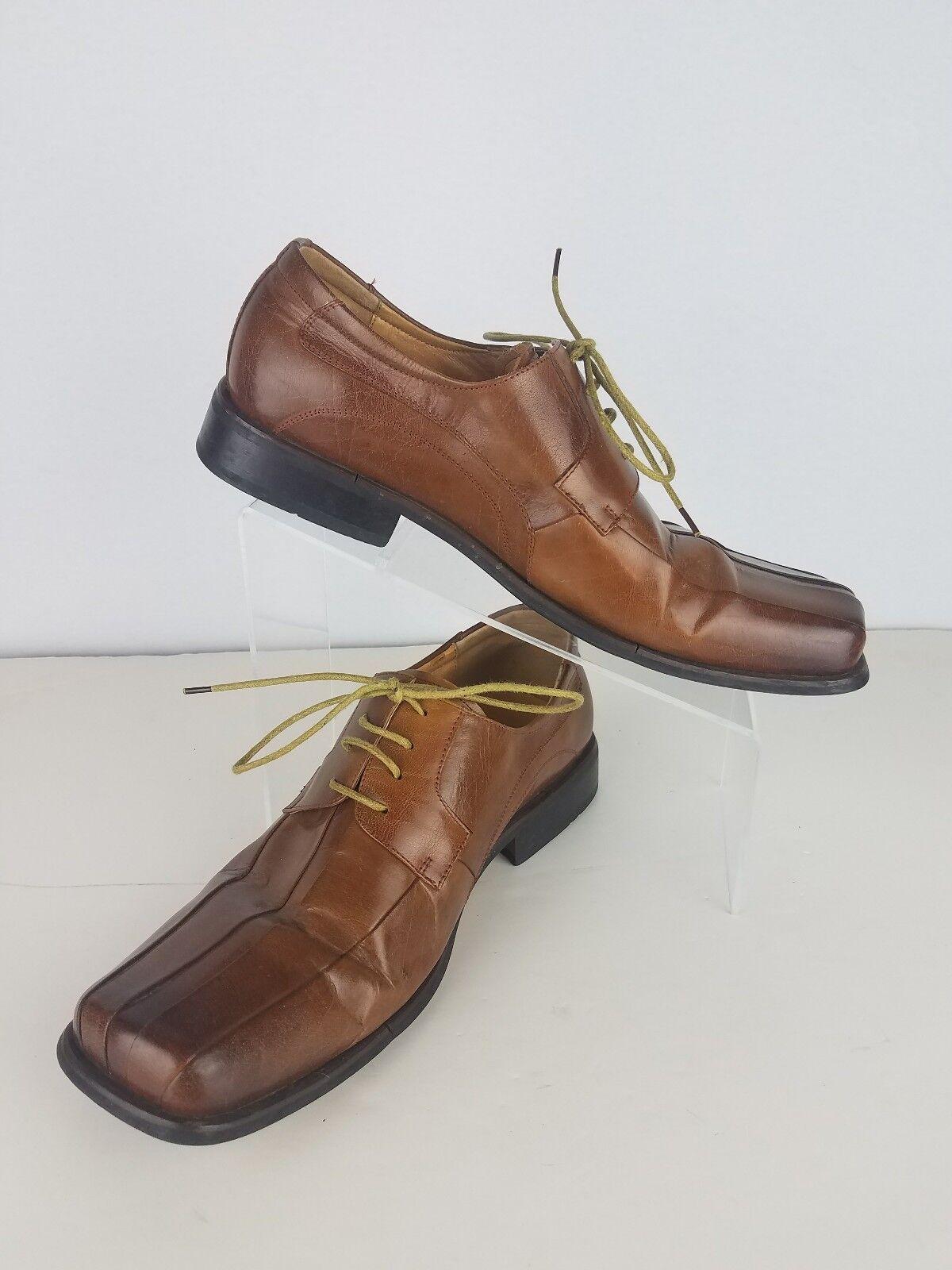 Men's Zota Italian Leather Square Toe shoes US Size 10