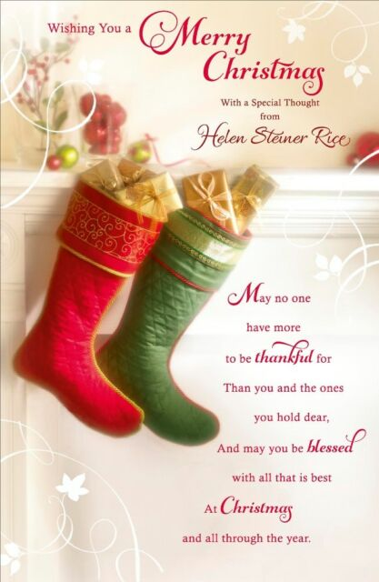 Wishing You a Merry Christmas Verse by Helen Steiner Rice Greeting ...