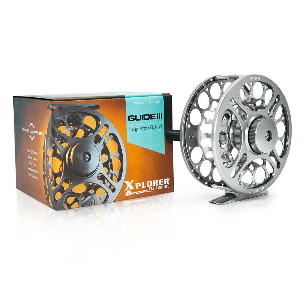 Xplorer Guide III - Fly Fishing Reel - III CNC Machined Aluminium  (4/5 5/7 9/10 wt) a8aa43