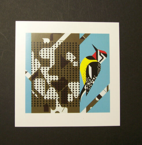 "Charles//Charley Harper Notecards /""Savoring Sycamore/"" 4 Pack w//Envelopes"