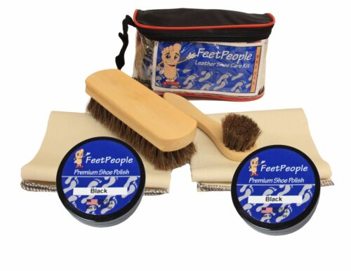 FeetPeople Deluxe Leather Care Kit with Travel Bag