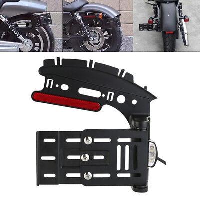 Black Rear License Plate Bracket Tail Light for Harley Sportster XL 883 1200