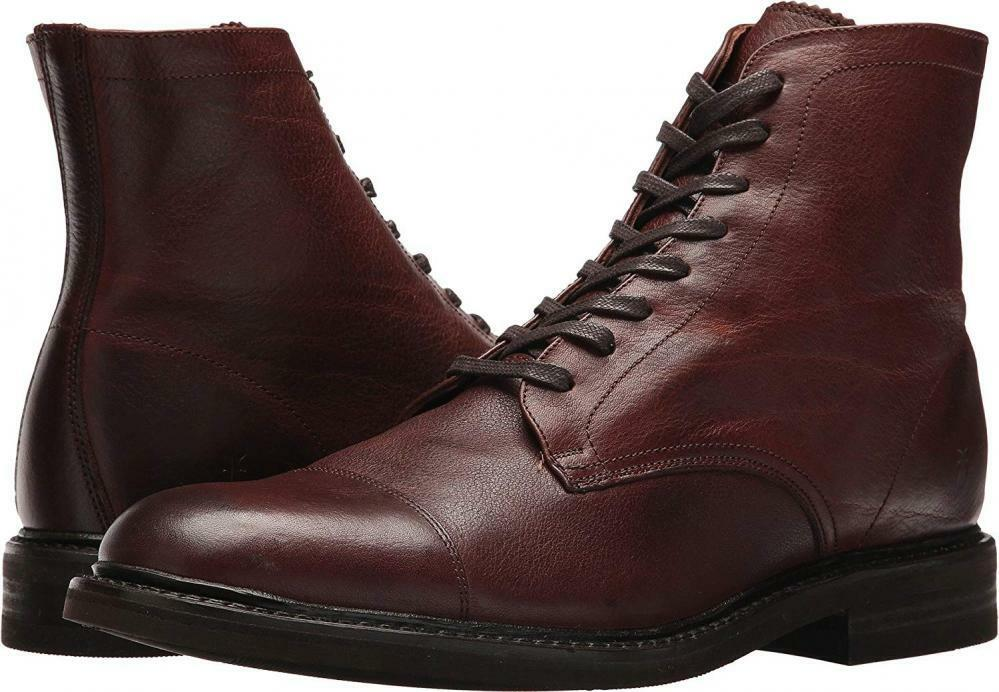 FRYE Men Seth Cap Toe Lace-Up Leather Combat Military Dress Stiefel Casual Walking