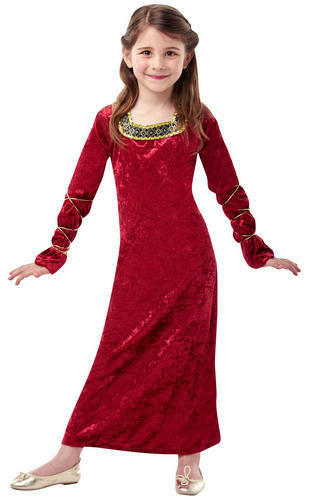 Royal Medieval Queen Girl/'s Fancy Dress Book Week Kids Costume Outfit Ages 3-10