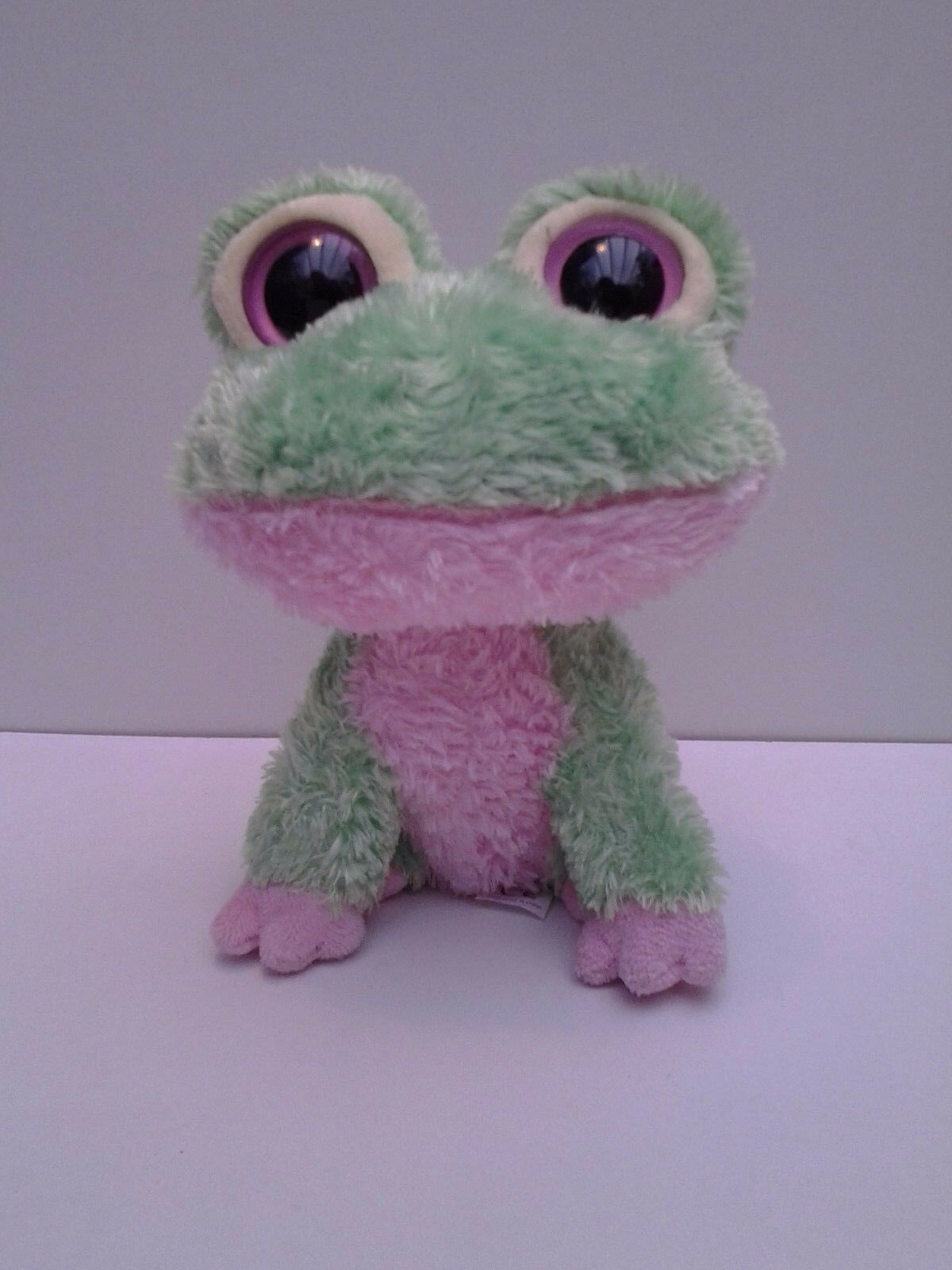 Ty Beanie Babies Boos Boo Buddy 2009 Kiwi the Green & Pink Frog Soft Toy 6