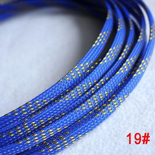 Ø18-100mm PET Geflechtschlauch Gewebeschlauch Sleeve Kabelschutz Mehrere Farben