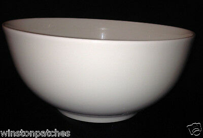 GORHAM BONE CHINA BOULDER CREEK CEREAL BOWL 24 OZ ALL WHITE