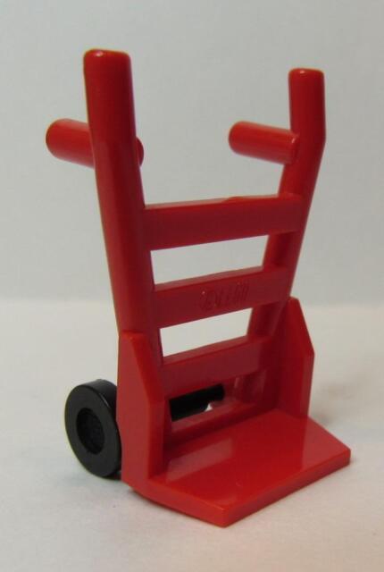 *NEW* 2 Pieces Lego Minifig Utensil HAND TRUCK DARK PINK Trolley
