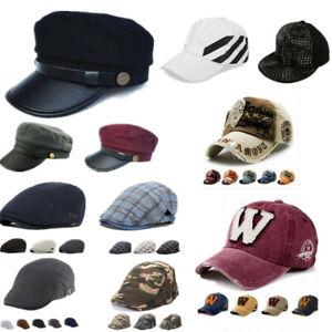 Unisexe-Homme-Femme-Casquette-Reglable-Bonnet-Chapeau-Truker-Coton-Beret-Chaud