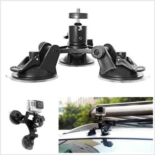 Vehicles Mini Triple Low Angle Suction Cup Type Mount Holder Bracket For Camera