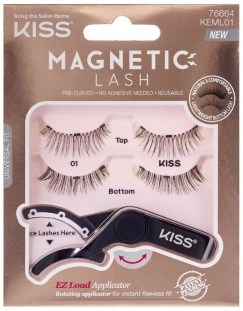 6ec938dc7d1 Kiss Magnetic Eye Lash #1 With EZ Load Applicator #76664 KEML01 No Glue  Needed