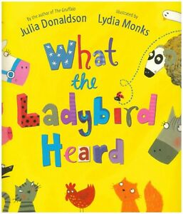 Julia-Donaldson-Story-Book-WHAT-THE-LADYBIRD-HEARD-Paperback-2019-NEW