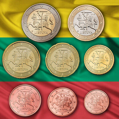 LITAUEN LITHUNIA EURO KMS KURSMÜNZENSATZ MÜNZEN 2015 UNC. - BU ST