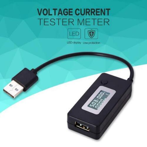 3-15V USB LCD Detector Voltmeter Ammeter Tester Meter Voltage Current Charger