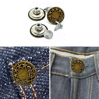 10pcs 17 mm Jeans Bouton cercle en bronze avec main Fixation Outil pour Denim Pantalon