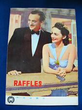 1955 RAFFLES Japan VINTAGE PROGRAM David Niven Olivia De Havilland May Whitty