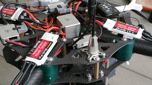 25mm Anti Vibration Drone 1 Tube Clamp Quadcopter Boom Clamp multirotor DJI