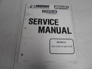 90 44477 1 mercury mariner factory outboard motor service manual rh ebay com 3.0 Mercruiser Shift Bracket Mercruser 3.0