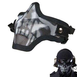 Strike-Metal-Mesh-Protective-SKULL-Mask-Half-Face-Tactical-Airsoft-Military-Mask