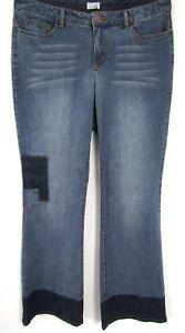 Nuevo-Mujer-Boot-Cut-Vaqueros-Blue-Used-Azul-5-Bolsillo-kangeroos-Elasticos-42