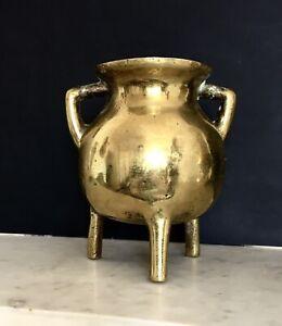Ancien-brule-parfum-tripode-a-anses-bronze-CHINE-fin-XIXe-19TH-deb-1900