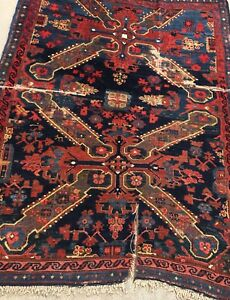 Image Is Loading An Antique Caucasian Rug