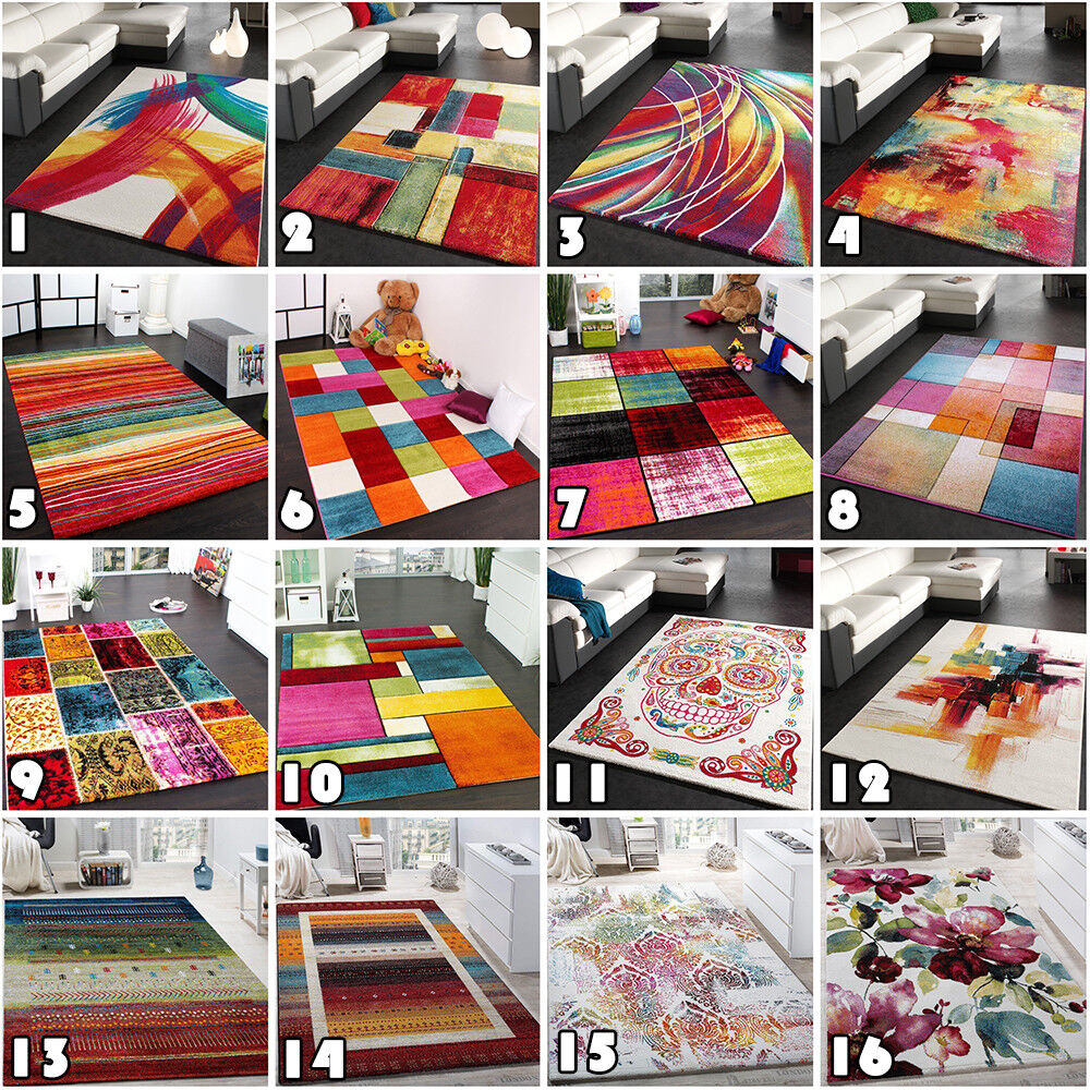 Moderno Designer Tappeto Multi Coloreee Motivo Stuoie Piccolo X Large Large Large Tappeto Pavimento Camera da Letto 810801