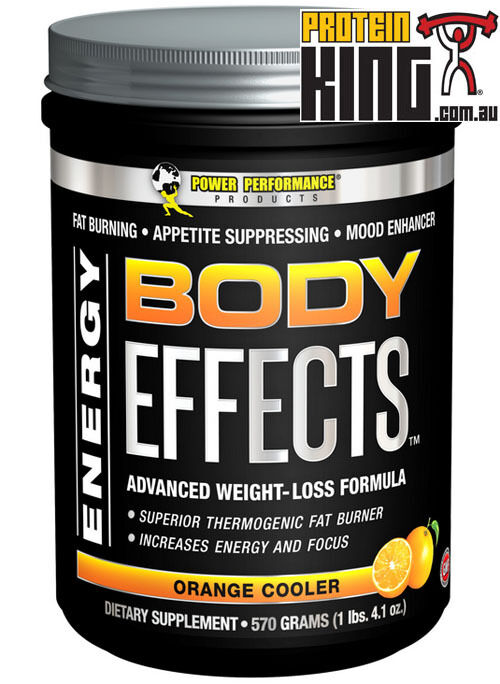 BODY EFFECTS 570G Orange COOLER FAT BURNER MOOD ENHANCR ENERGY POWER PERFORMANCE
