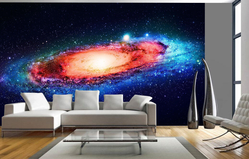 Details About Space Galaxy Stars Planets Wallpaper Mural Photo Children Kids Room Home Deco