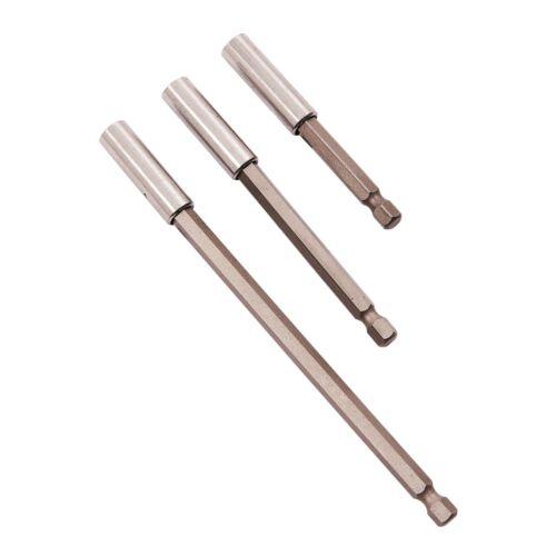 3Pc Magnetic Bit Holder Set 75mm 100mm 150mm Extension Bars Amtech L2210