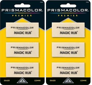Sanford Prismacolor Premier Magic Rub Erasers Sealed Packs 6 Total 2 Packs