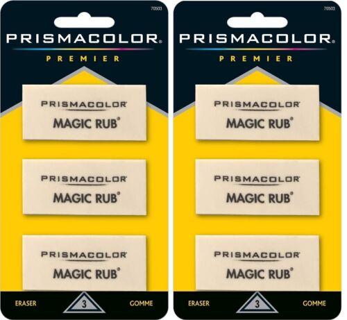 Sanford Prismacolor Premier Magic Rub Erasers Sealed Packs 6 Total 2 Packs