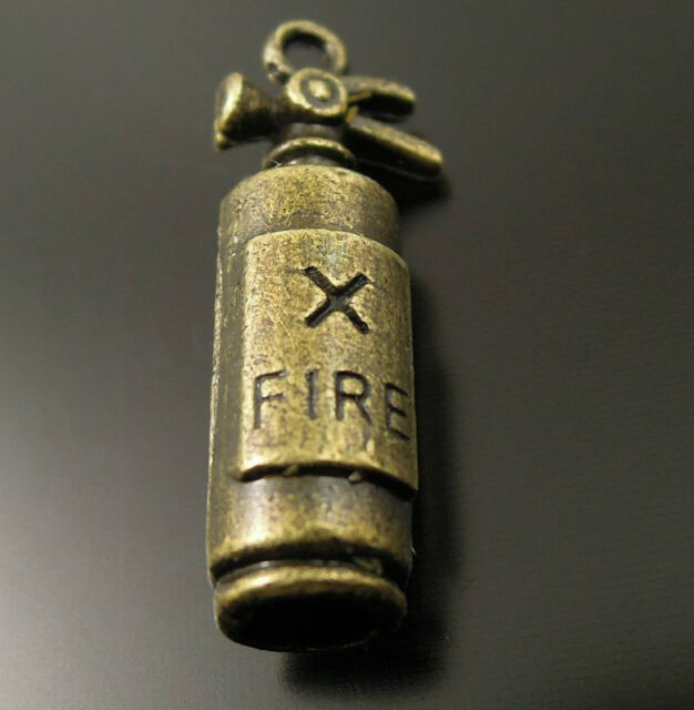 37127 Antiqued Bronze Alloy Cute Fire Extinguisher Fashion Pendant Charms 80pcs