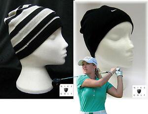 Nike-Femmes-reversible-laine-merino-GOLF-Bonnet-noir-authentique