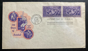 1939-Cooperstown-USA-First-day-Cover-FDC-Baseball-Centenary-Anniversary