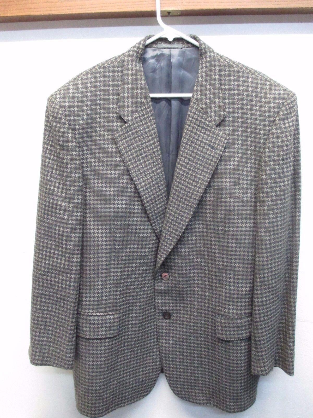 Zanella Men's Patterned Extra Fine Merino Wool Sport Coat Blazer Made in