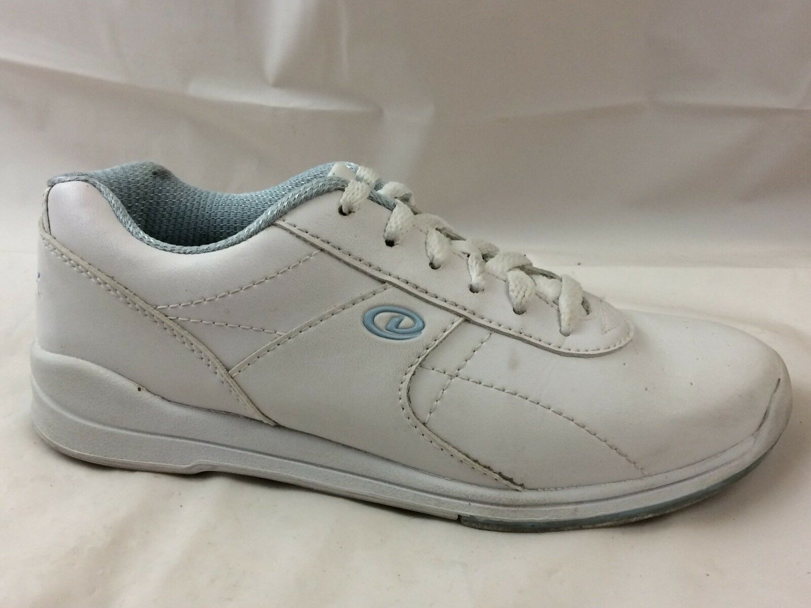 Dexter Raquel III Womens 6 Medium Bowling shoes Sneakers Faux Leather White bluee
