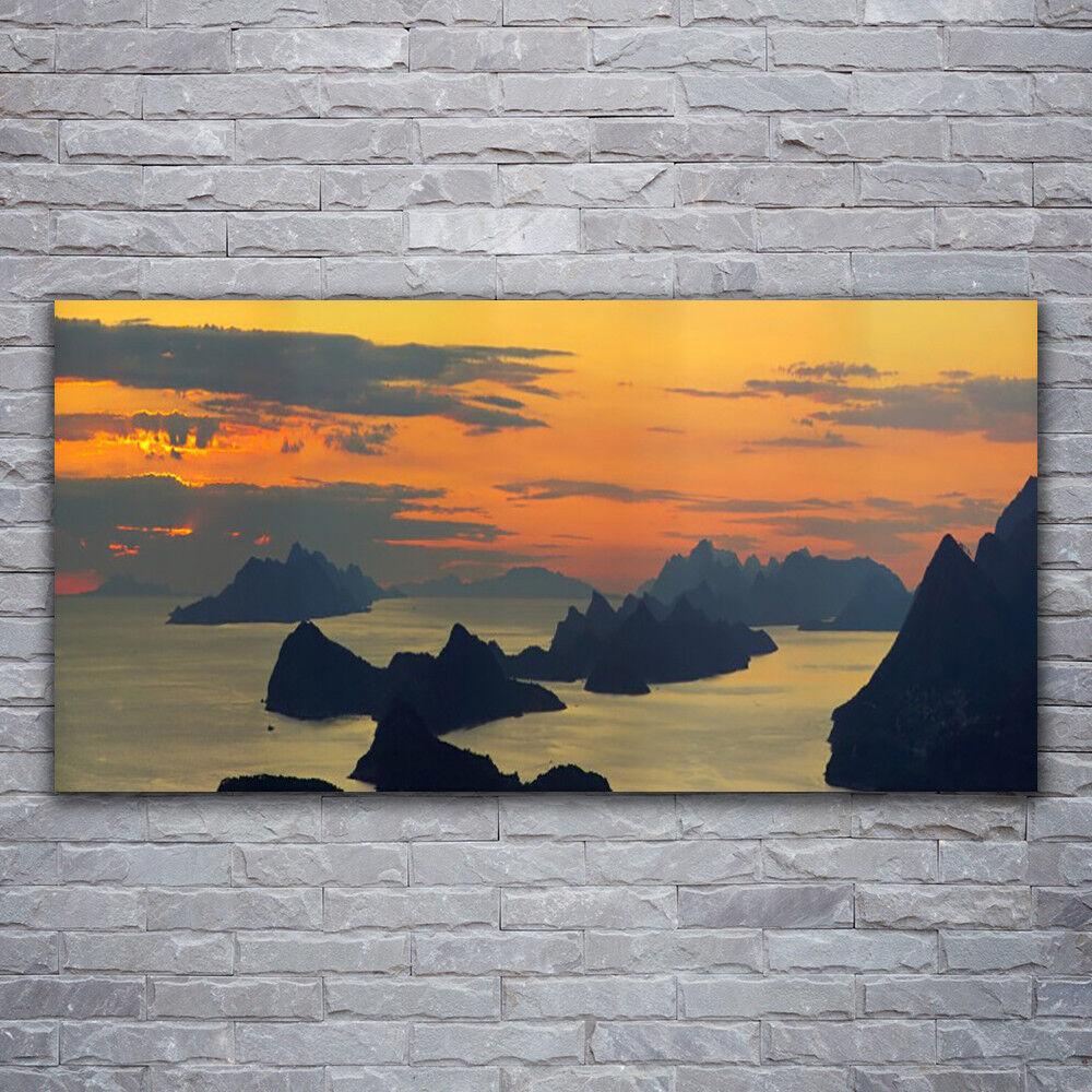 Glasbilder Wandbild Druck auf Glas 120x60 Meer Felsen Landschaft