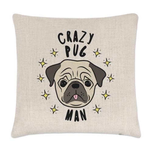 Crazy Carlin Homme Stars Lin Housse de Coussin Oreiller-Drôle Chien Chiot Animal