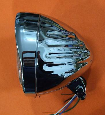 chrome headlight HARLEY SPRINGER  bobber softail sportster dyna head light