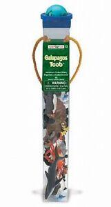 Tiere-der-Galapagos-Inseln-12-tlg-Figuren-Sammler-Set-in-Roehre-Toob-Tube