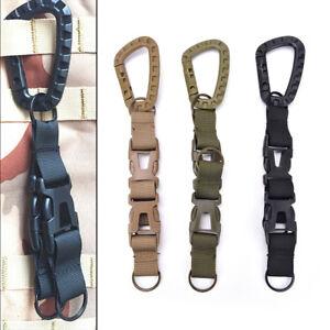 New Outdoor Carabiner Hook Webbing Buckle Nylon Molle Belt Hanging Key Ring Clip