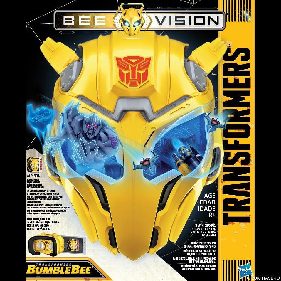 TRANSFORMERS MV6 BUMBLEBEE MOVIE BEE VISION MASK 2018